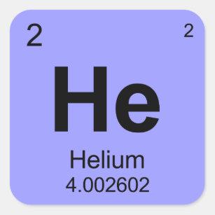 Helium element periodic table stickers zazzle periodic table of elements helium square sticker urtaz Images