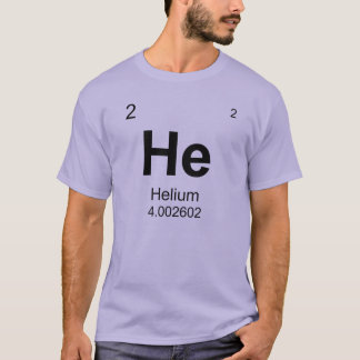 Periodic Table of Elements (Helium) T-Shirt