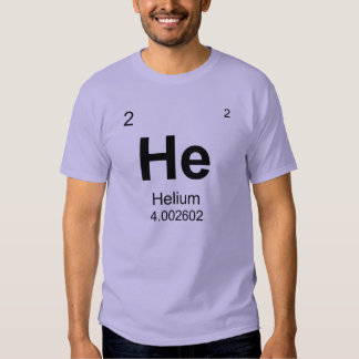 Periodic Table of Elements (Helium) Tee Shirt