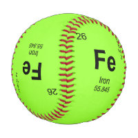 Periodic Table of Elements (Iron) Baseball