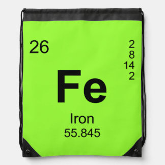 Periodic Table of Elements (Iron) Drawstring Bag