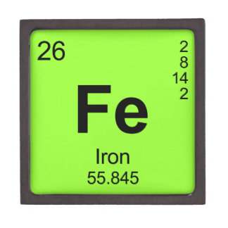 Periodic Table Of Elements (Iron) Keepsake Box