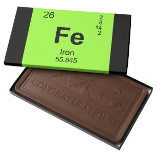 Periodic table of elements chocolate boxes zazzle periodic table of elements iron milk chocolate bar urtaz Gallery