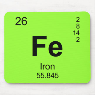 Periodic Table of Elements (Iron) Mousepads
