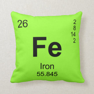 Periodic Table of Elements (Iron) Pillows