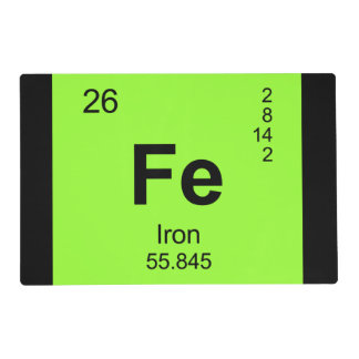 Periodic Table of Elements (Iron) Placemat