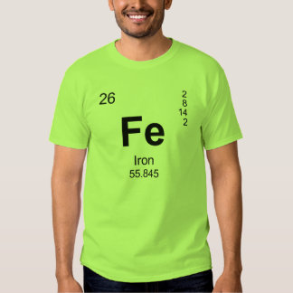 Periodic Table of Elements (Iron) Tshirts