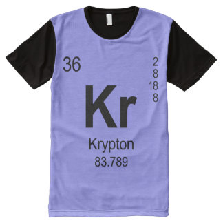 Periodic Table of Elements (Krypton) All-Over Print T-shirt