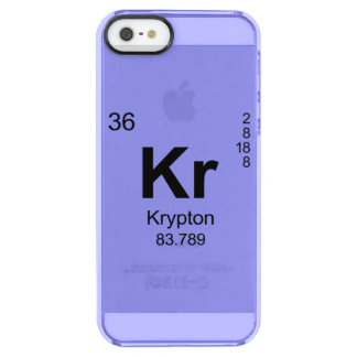 Periodic Table of Elements (Krypton) Clear iPhone SE/5/5s Case