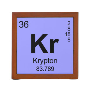 Elements krypton office products supplies zazzle periodic table of elements krypton desk organizer urtaz