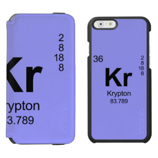 Periodic Table of Elements (Krypton) iPhone 6/6s Wallet Case