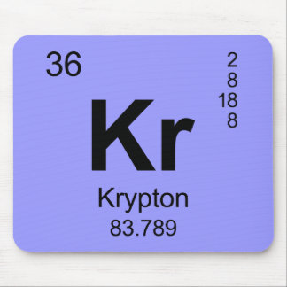 Periodic Table of Elements (Krypton) Mouse Pad