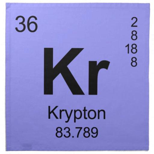Periodic Table Of Elements Krypton Napkins Zazzle