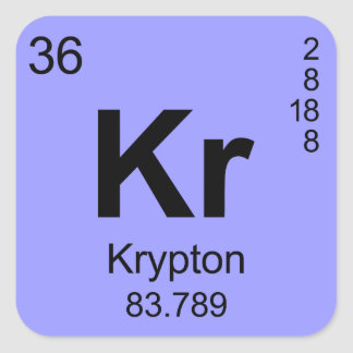 Periodic Table of Elements (Krypton) Square Sticker