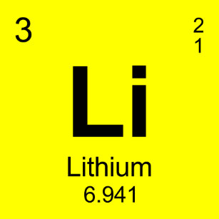periodic table of elements lithium all over print tank top