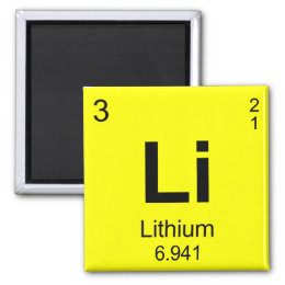 Lithium atom home decor pets products zazzle periodic table of elements lithium magnet urtaz Images