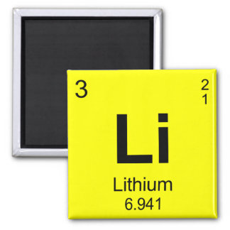 Lithium refrigerator magnets zazzle periodic table of elements lithium magnet urtaz Gallery