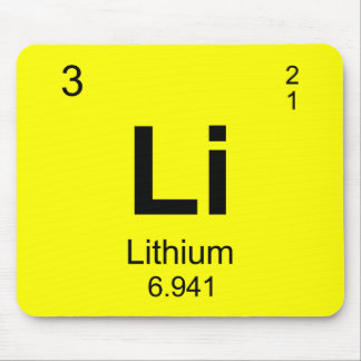 Periodic Table of Elements (Lithium) Mousepads