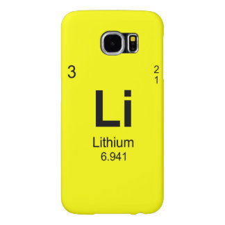 Periodic Table of Elements (Lithium) Samsung Galaxy S6 Case