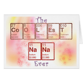 Periodic Table of Elements Nana Card