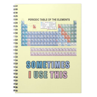Periodic Table of Elements Spiral Notebooks