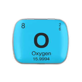 Periodic Table of Elements (Oxygen) Jelly Belly Candy Tin