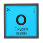 Periodic Table of Elements (Oxygen) Jewelry Box