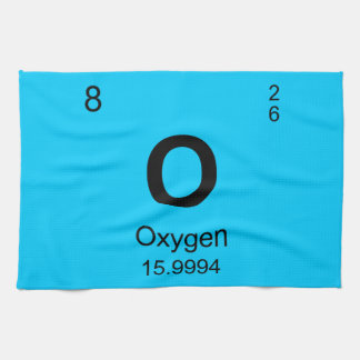 Periodic Table of Elements (Oxygen) Hand Towels