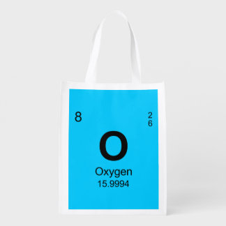 Periodic Table of Elements (Oxygen) Reusable Grocery Bags
