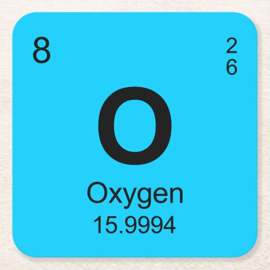Periodic table of elements oxygen square paper coaster zazzle periodic table of elements oxygen square paper coaster urtaz Images