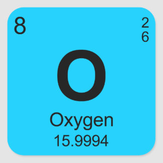 Periodic Table of Elements (Oxygen) Sticker