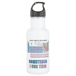 Periodic Table of Elements 18oz Water Bottle