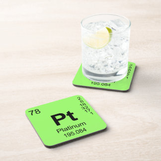 Periodic Table of Elements (Platinum) Drink Coaster