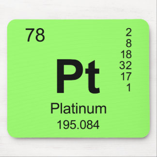 Periodic Table of Elements (Platinum) Mouse Pad
