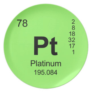 Periodic Table of Elements (Platinum) Dinner Plate