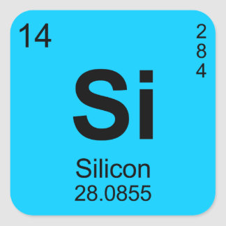 Periodic Table of Elements (Silicon) Sticker