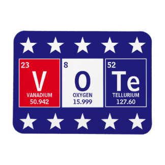 Periodic Table of Elements Spell Vote 3 x 4 Magnet