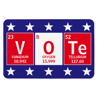 Periodic Table of Elements Spell Vote 4 x 6 Magnet