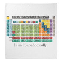 Periodic Table of Elements - Use Periodically Bandana
