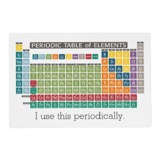 Periodic Table of Elements - Use Periodically Placemat