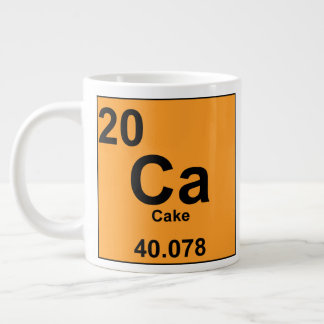 Periodic Table of Foodie Elements: Cake Large Coffee Mug
