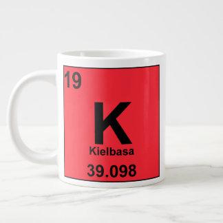 Periodic Table of Foodie Elements: Kielbasa Large Coffee Mug