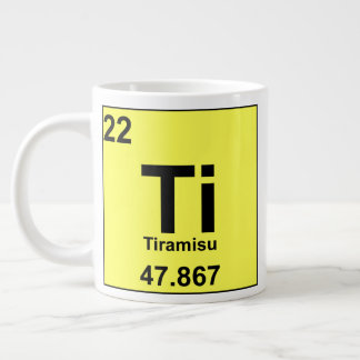 Periodic Table of Foodie Elements: Tiramisu Large Coffee Mug