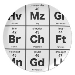 Periodic Table of International Cheeses Melamine Plate