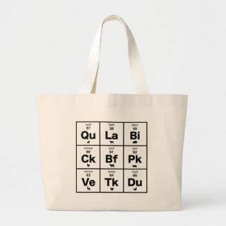 Periodic Table of Meats Large Tote Bag