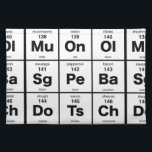 """Periodic Table of Pizza Ingredients Cloth Placemat<br><div class=""""desc"""">The elements of a good pizza</div>"""
