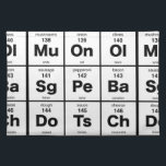 "Periodic Table of Pizza Ingredients Cloth Placemat<br><div class=""desc"">The elements of a good pizza</div>"