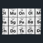 "Periodic Table of Pizza Ingredients Kitchen Towel<br><div class=""desc"">The elements of a good pizza</div>"