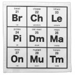 Periodic Table of Sandwich Toppings Printed Napkin