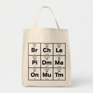 Periodic Table of Sandwich Toppings Tote Bag